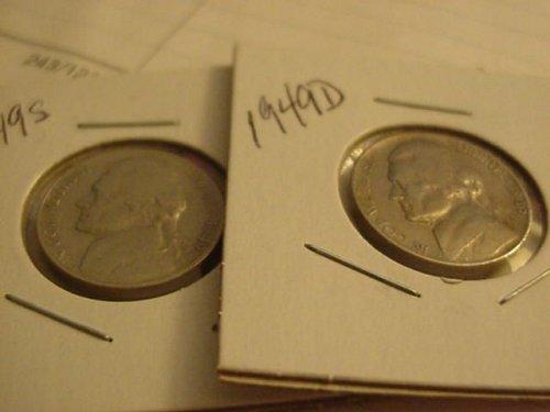 2-nickels 1949D,49S