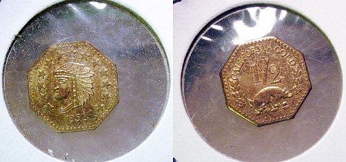 1852 California Gold Fractional Token Replica