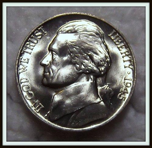 1945 - P Silver Jefferson Nickel (BU)