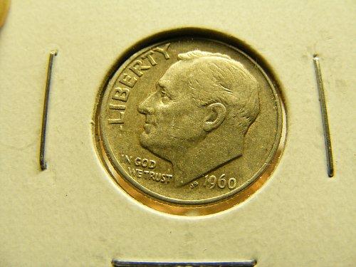 1960 D Roosevelt Silver Dime