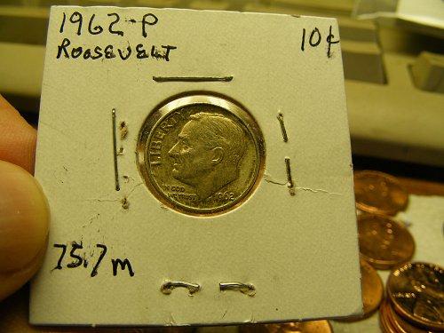 1962 P Roosevelt Silver Dime
