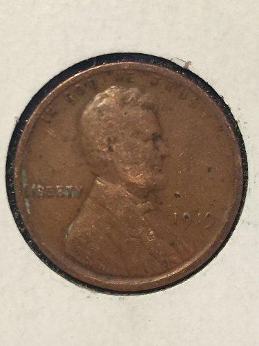 1919 P Wheat Cent