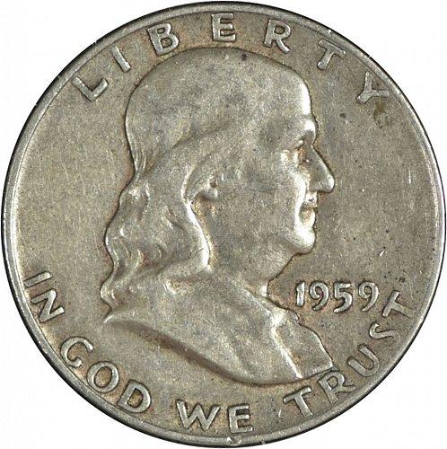 1959 D Franklin Half Dollar, (Item 246)