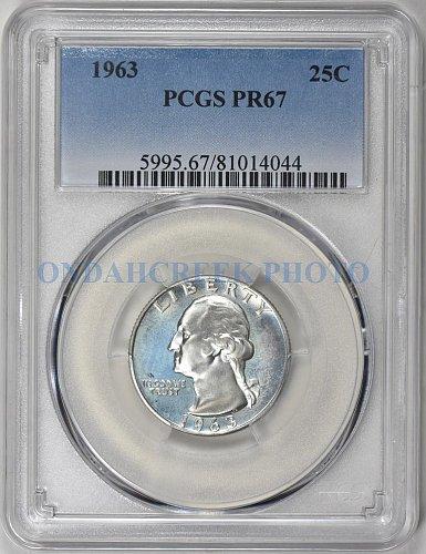1963 Washington Silver Quarter PCGS Proof 67
