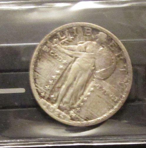 1924 P Standing Liberty Quarter XF45/AU50
