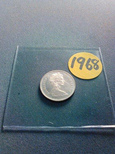 SILVER CANADA 1968 TEN CENTS