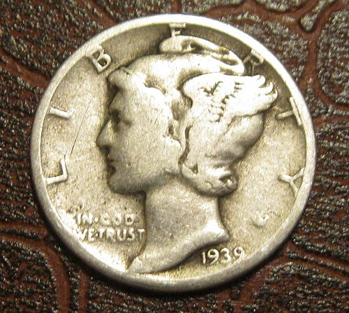 1939 MERCURY DIME, WINGED LIBERTY