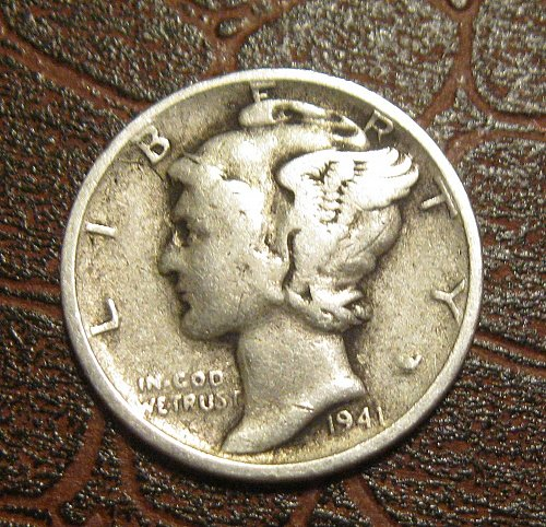 1941-S MERCURY DIME, WINGED LIBERTY