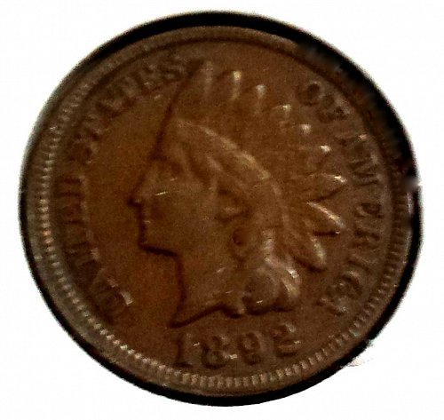 1892 P Indian Head Cent Small Cent