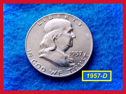 1957-D  Franklin Half –– Circulated Coin Grading  XF-40 or Higher   (#1519)