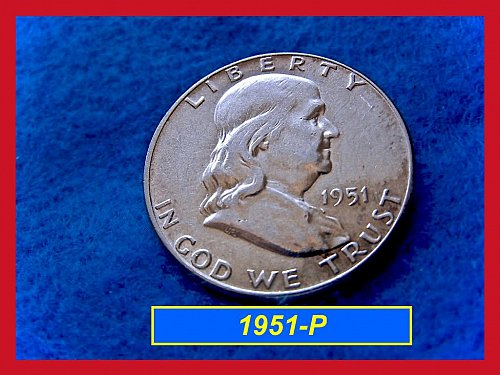 1951-P  Franklin Half Dollar ––– XF Condition   (#1524)