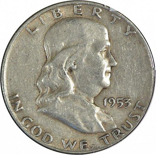 1953 D Franklin Half Dollar, (Item 262)