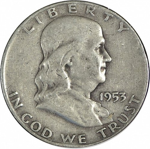 1953 D Franklin Half Dollar, (Item 265)