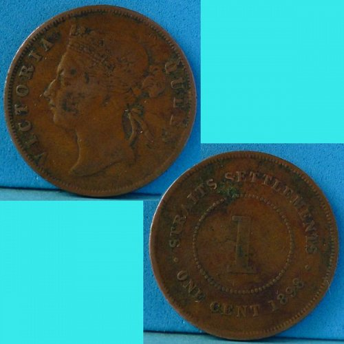 Straits Settlements 1 Cent 1898 km 16