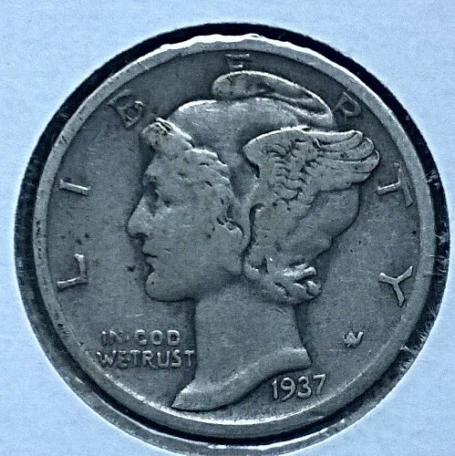 1937 S Winged Liberty Head Dime