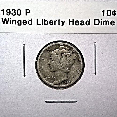 1930 P Winged Liberty Head Dime