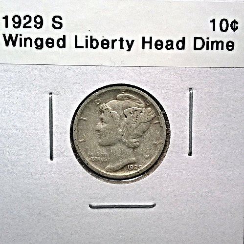 1929 S Winged Liberty Head Dime