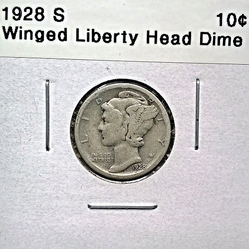 1928 S Winged Liberty Head Dime