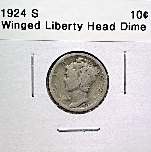 1924 S Winged Liberty Head Dime