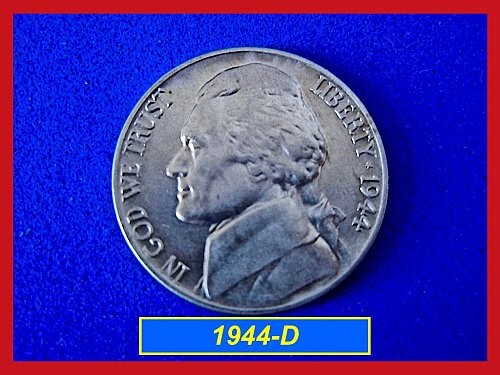 1944-D Jefferson Silver War  Nickel   (#6071)