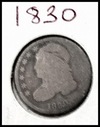 1830 P Capped Bust Dime: Large 10C