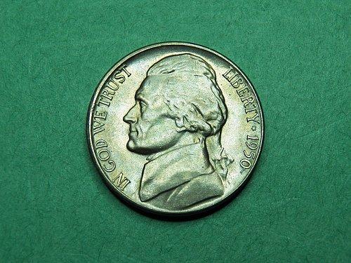 1950 D Jefferson Nickel Gem Uncirculated Coin   h56