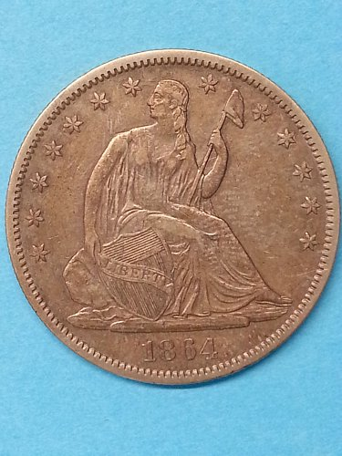 1864 Seated Liberty Half