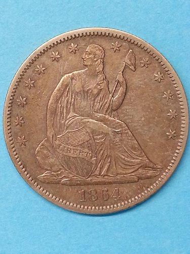 1864 Seated Liberty Half