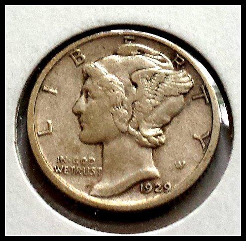 1929 S Mercury Dime