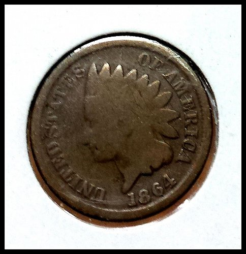 1864 P Indian Head Cent Small Cent: No L Bronze