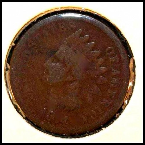 1874 P Indian Head Cent Small Cent