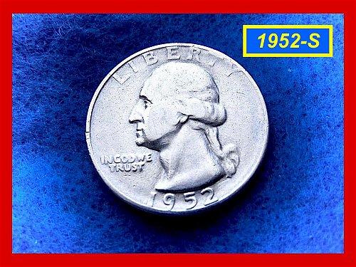 "1952-S   ""VF-25"" Washington Quarter ••• (#2442)"