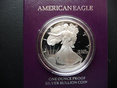 1990-S Silver American Eagle