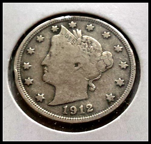 1912 P Liberty Head V Nickel