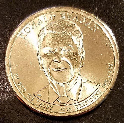 2016-D Ronald Reagan Presidential Dollar - From Mint Roll (6514)