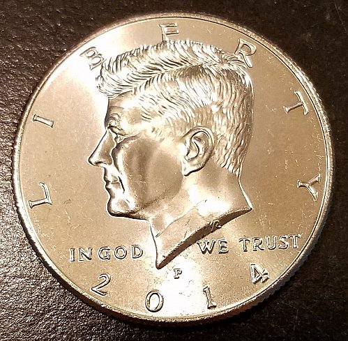 2014-P Kennedy Half Dollar - From US Mint Roll (6517)