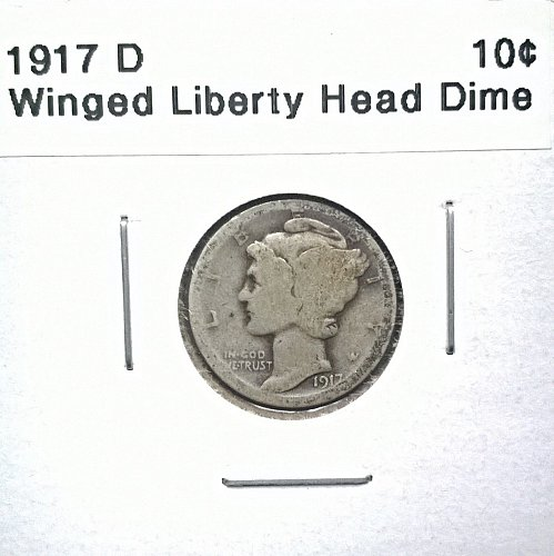 1917 D Winged Liberty Head Dime