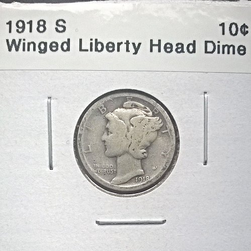 1918 S Winged Liberty Head Dime
