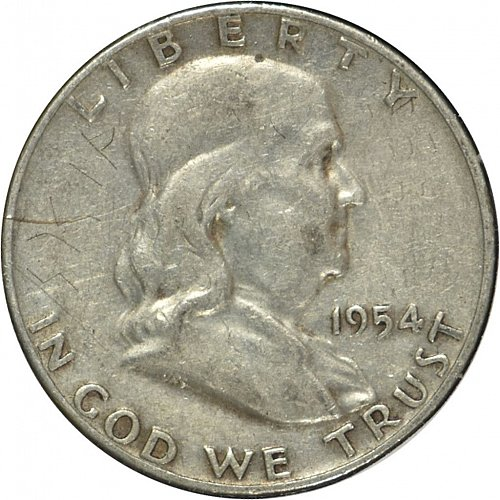 1954 D Franklin Half Dollar, G 04, (Item 273)