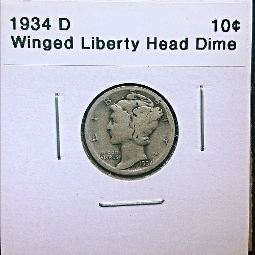 1934 D Winged Liberty Head Dime
