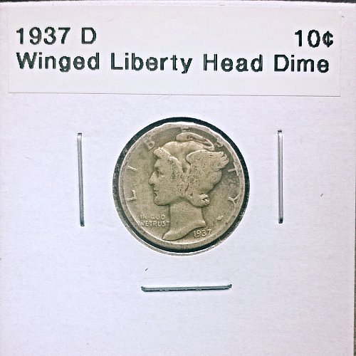 1937 D Winged Liberty Head Dime