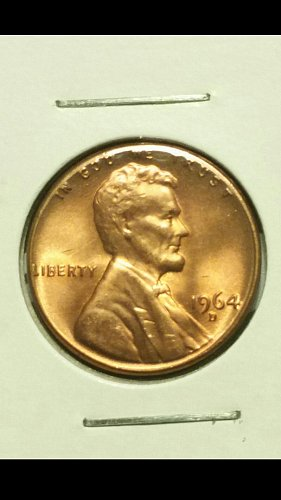 1964-D rim error with die clash both sides