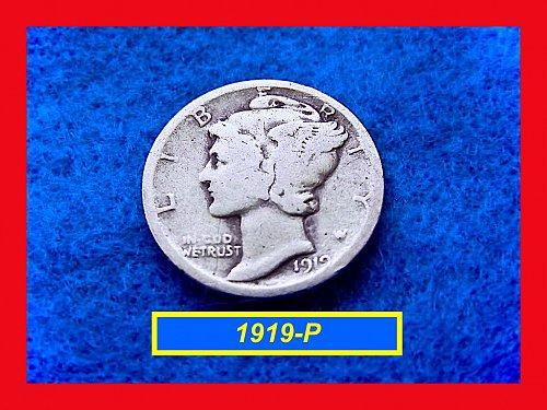 1919-P   Mercury Dime  •  (#3361)