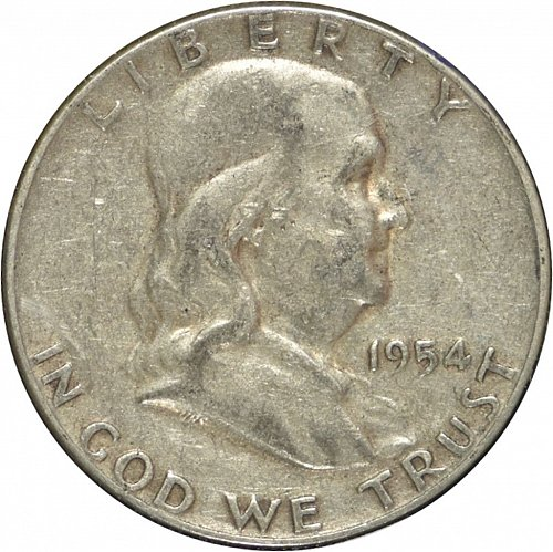 1954  Franklin Half Dollar, (Item 282)