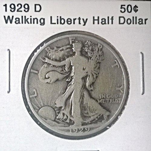 1929 D Walking Liberty Half Dollar