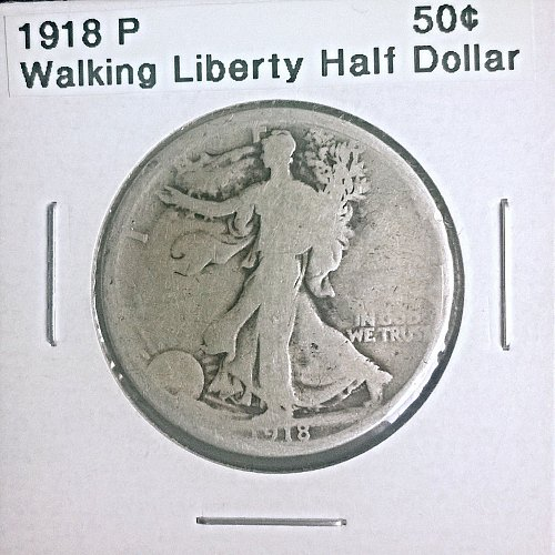 1918 P Walking Liberty Half Dollar