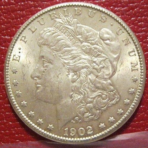 1902-O Morgan Silver Dollar, MS UNC.
