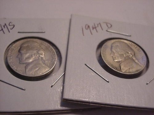 1947D and S nickels