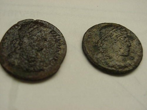 2-old roman ancient coins..the real thing