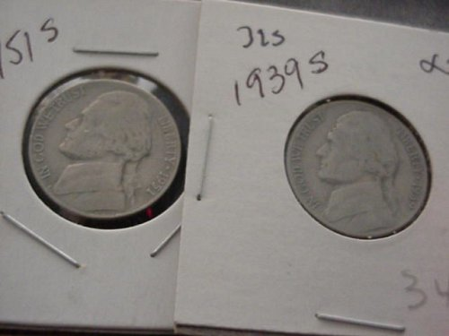 3-nickels 1939s ,1951s and 1958p ..the 1958 is bu